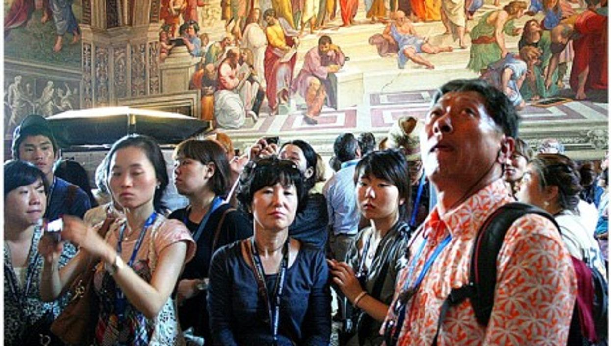 Looking up, in the Vatican Museum