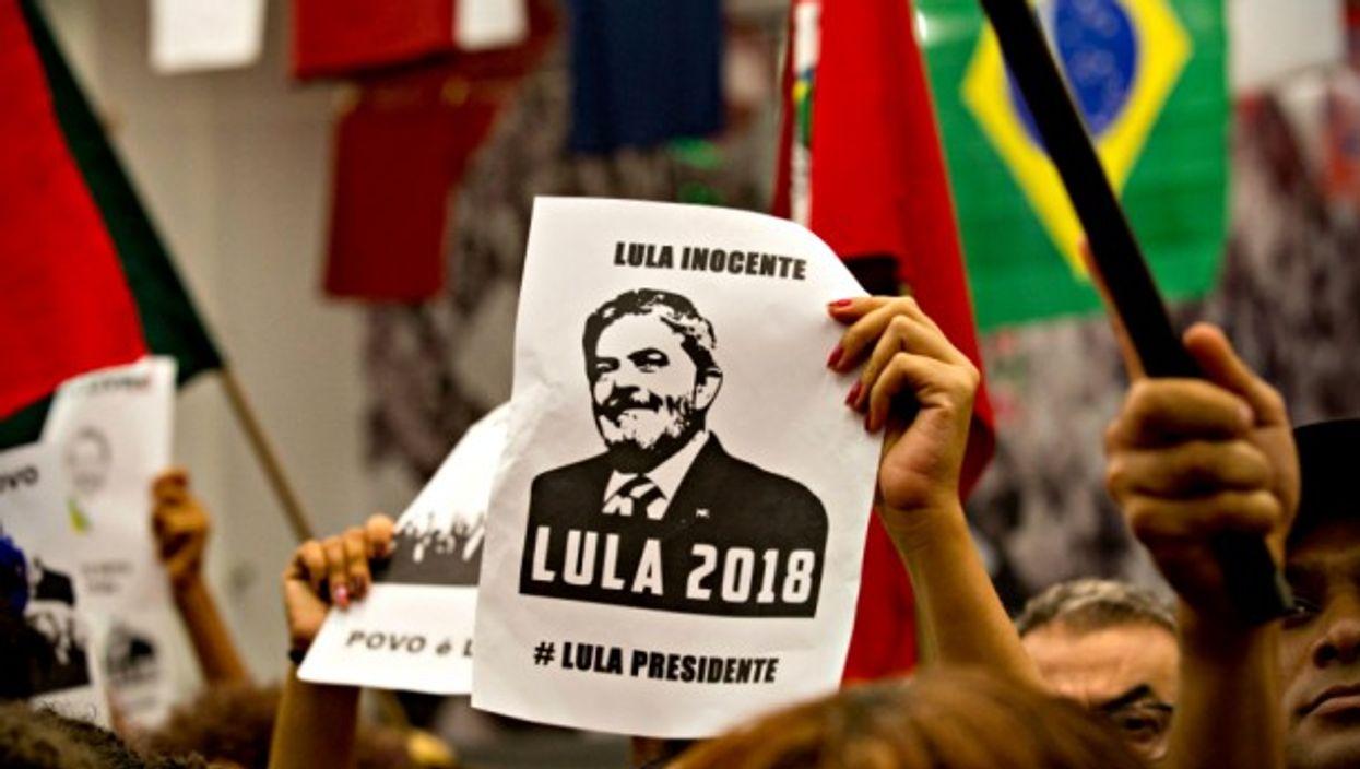 Lula supporters in Sao Bernardo do Campo on April 4