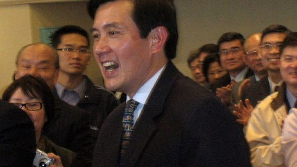Ma at a campaign event (Prince Roy)