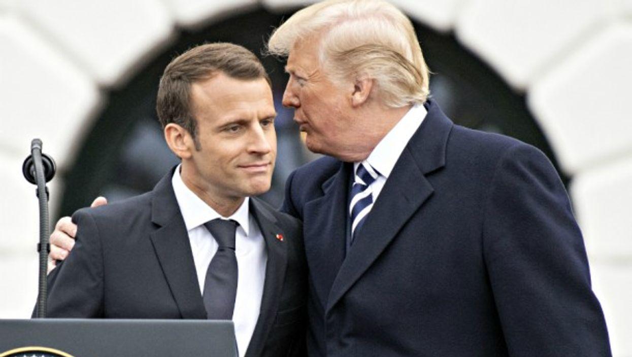 Macron and Trump in Washington on April 24