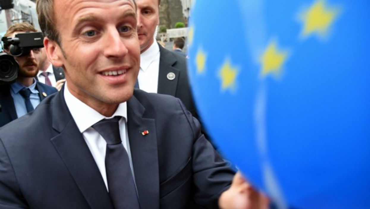 Macron in Aachen on May 9