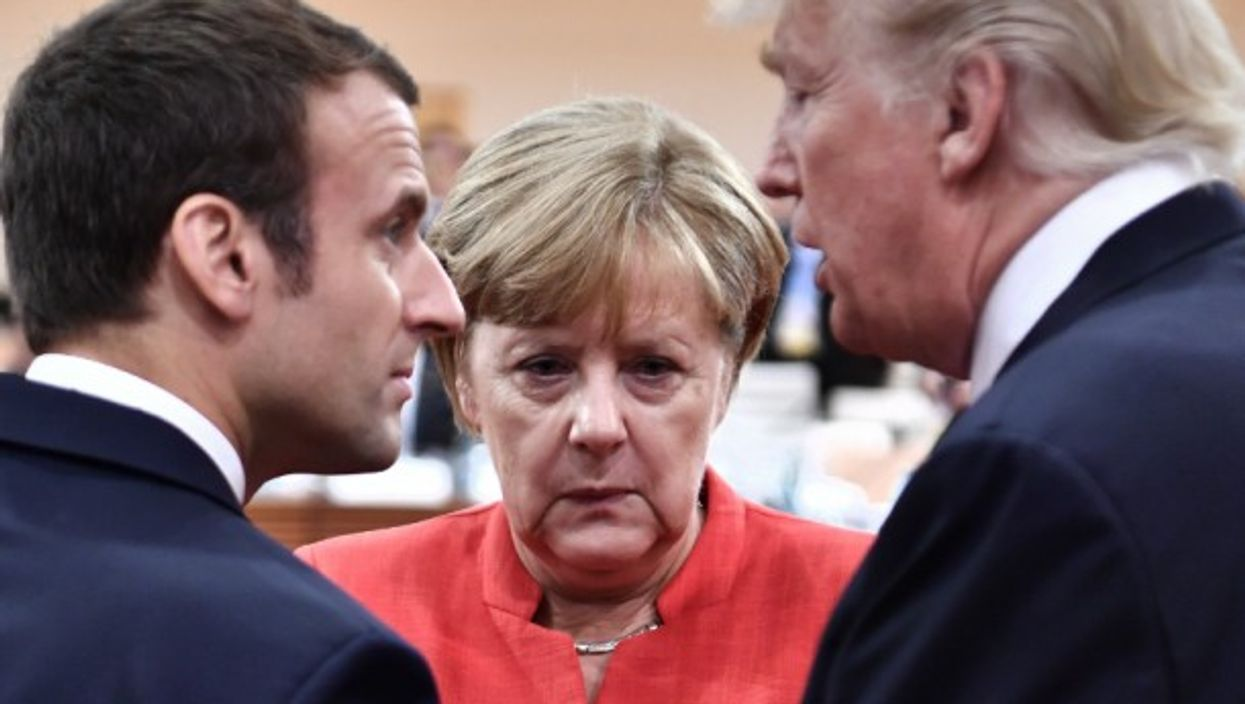 Macron, Merkel and Trump at the 2017 G20 summit
