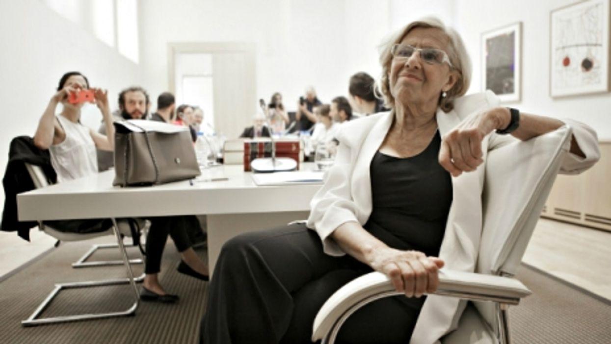 Madrid mayor Manuela Carmena in the Spanish capital on June 13