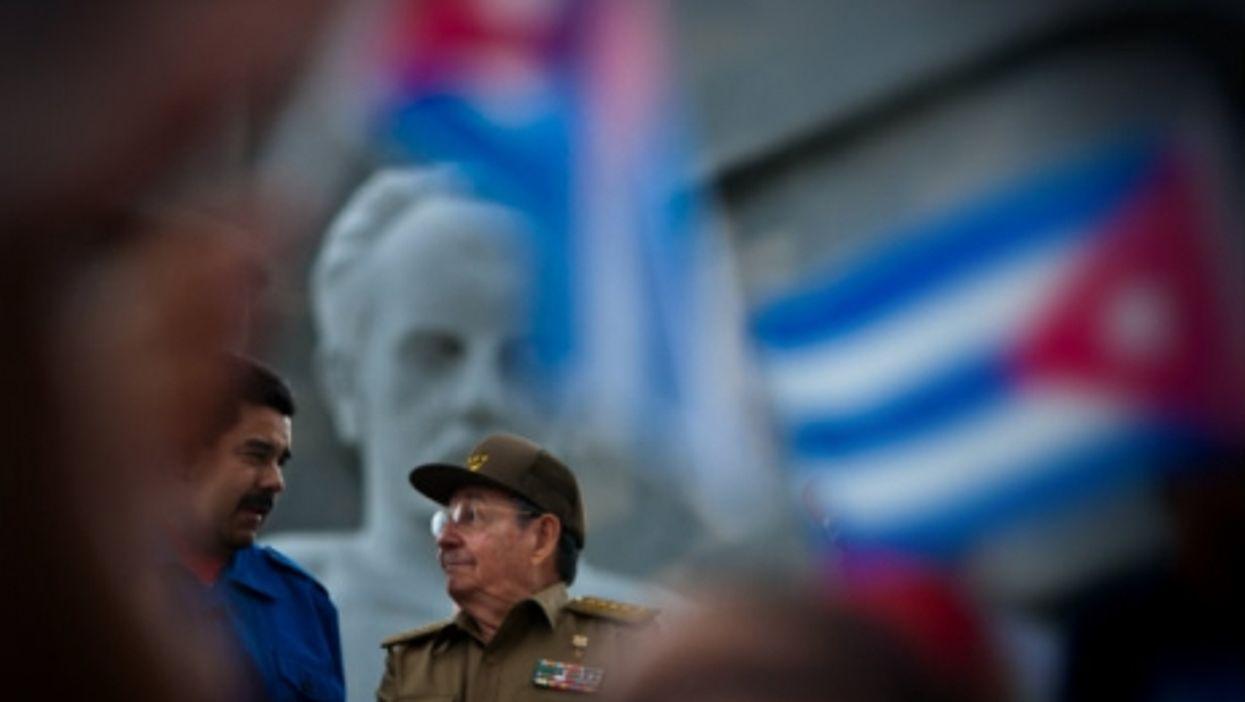 Maduro and Castro last May in Havana