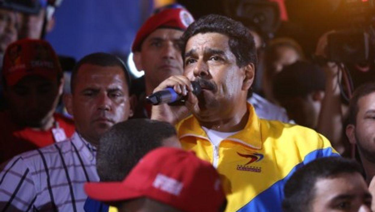 Maduro at a rally