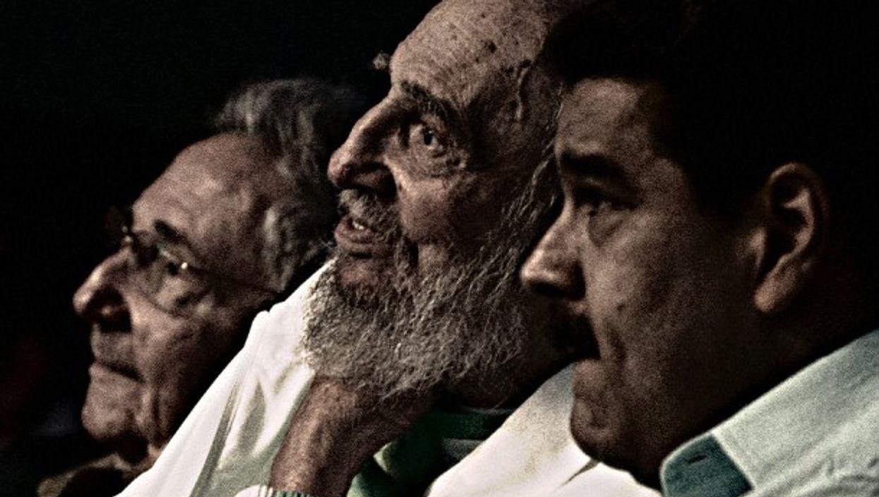 Maduro at Fidel Castro's 90th birthday celebration