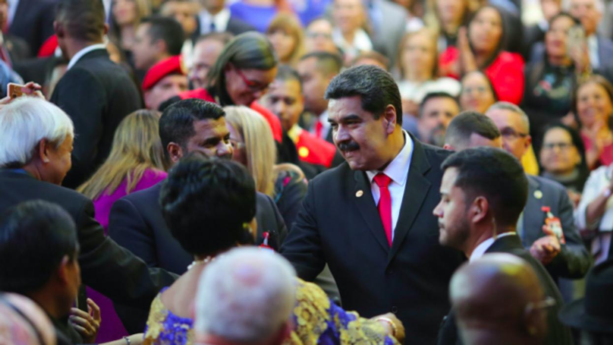 Maduro earlier this year in El Salvador