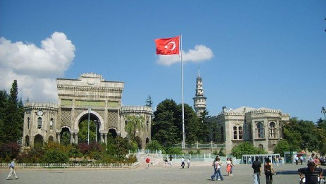 Main entrance gate of Istanbul University on Beyazıt Square