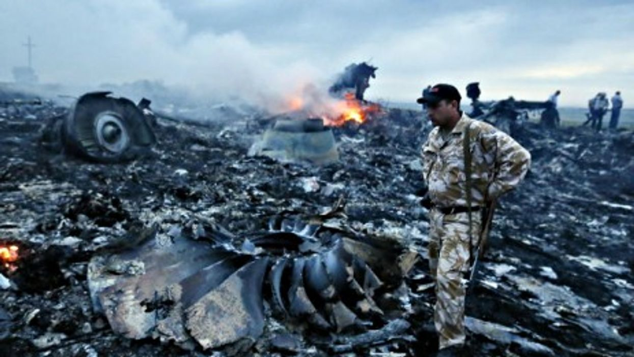 Malaysia Airlines Flight 17 crash site in eastern Ukraine.