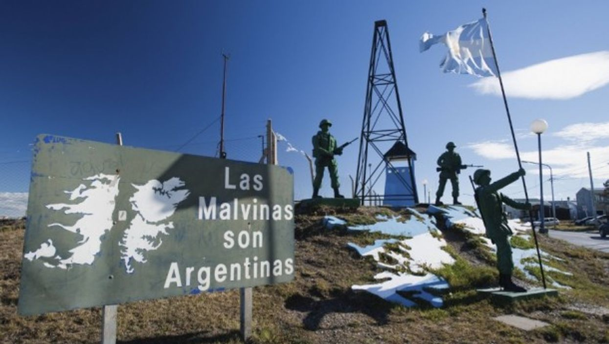 Malvinas Monument in Rio Grande, Argentina