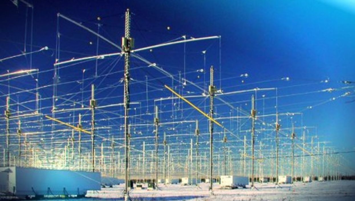 Manipulating the weather? The HAARP antenna array