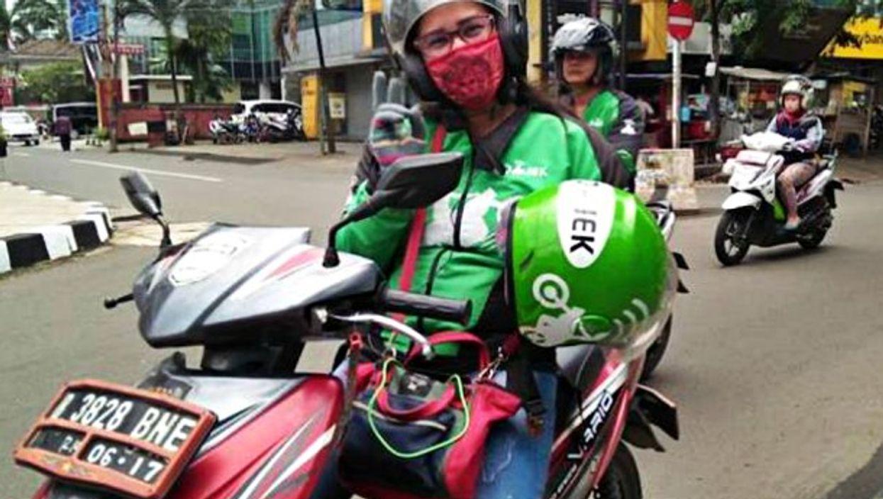 Many women drive ojeks in Jakarta