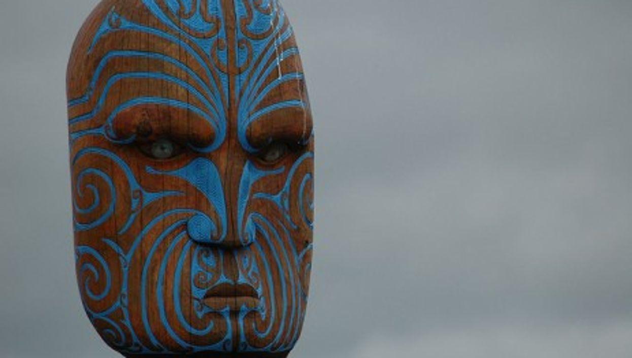 Maori statue along Omaha Beach, New Zealand (stealthproject2006)