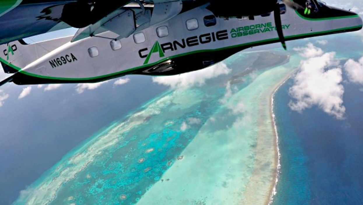 Mapping coral reefs from up high