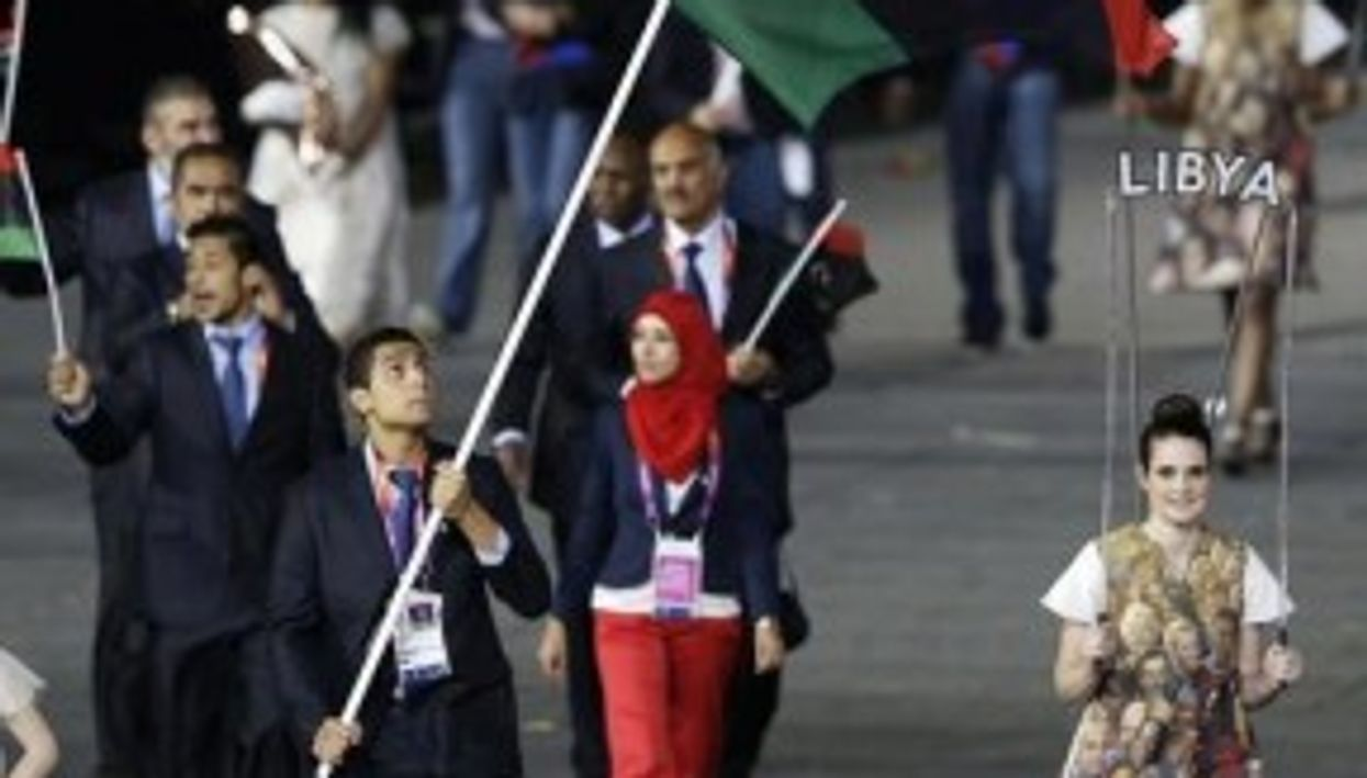 Marching proudly (Libyan Olympic Team)