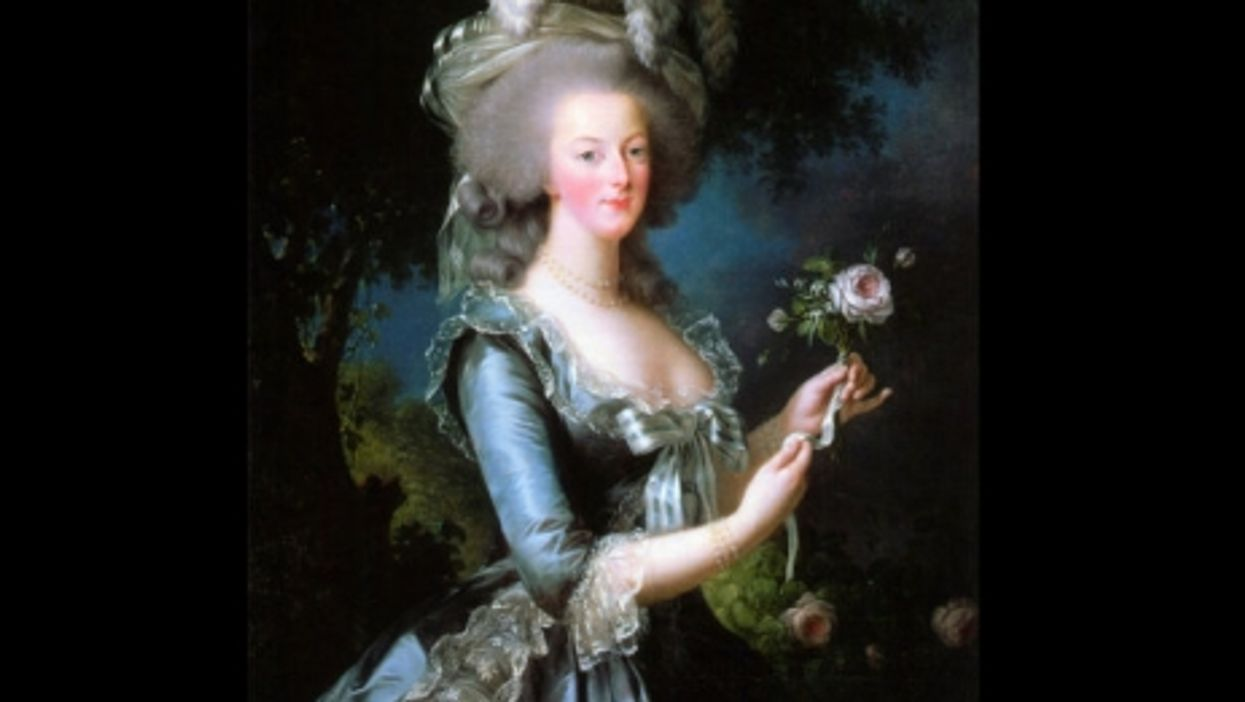 Marie Antoinette With A Rose