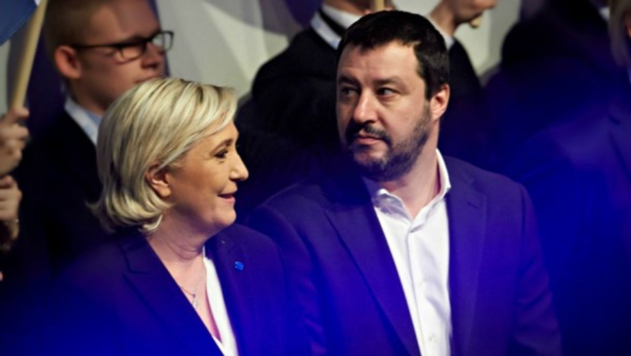 Marine Le Pen and Matteo Salvini at a right-wing congress in Koblenz