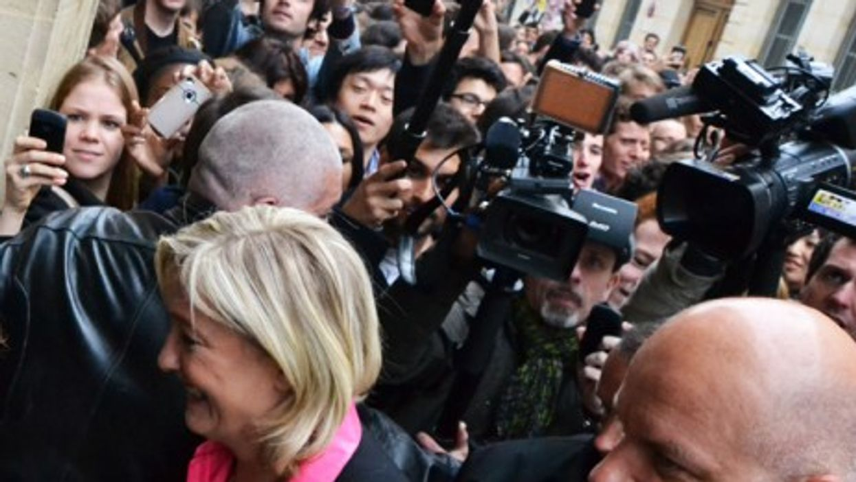 Marine Le Pen earlier this month in Paris (RemiJDN)
