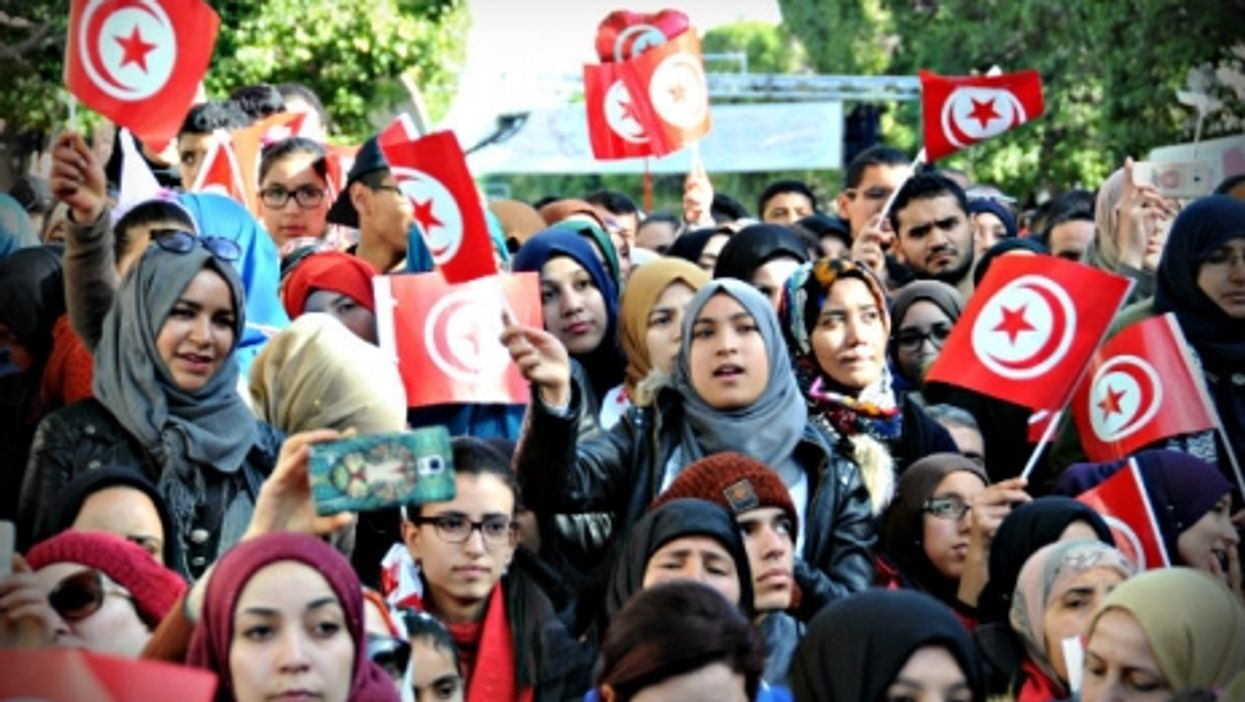 Marking the fifth anniversary of the revolution in Tunis