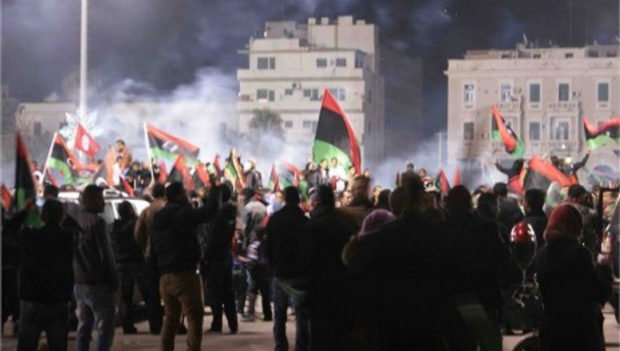Martyr Square In Tripoli In February
