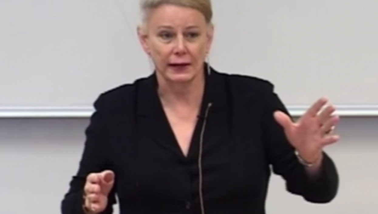 McCloskey during a recent lecture in Germany