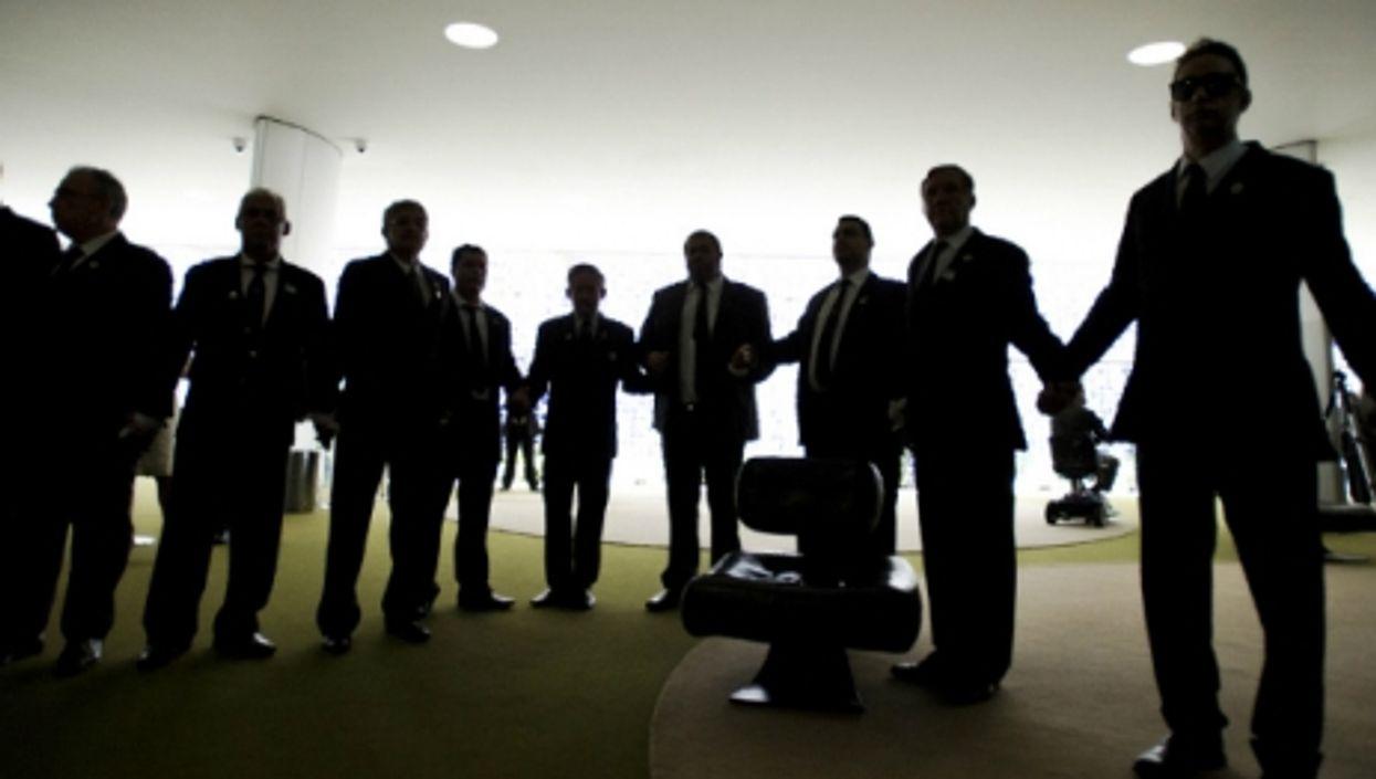Members of a Freemason lodge in Brasilia
