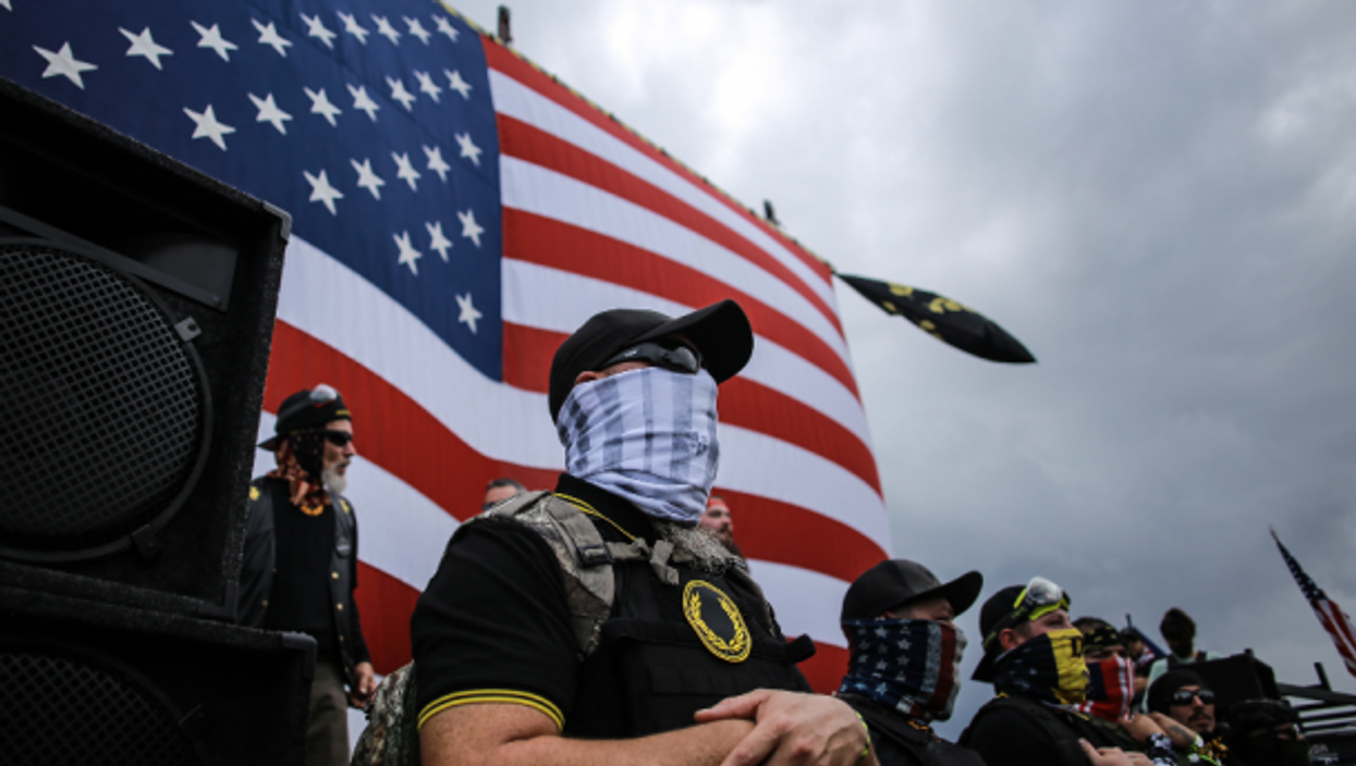 Members of far-right Proud Boys have warned of violence if Trump loses the election