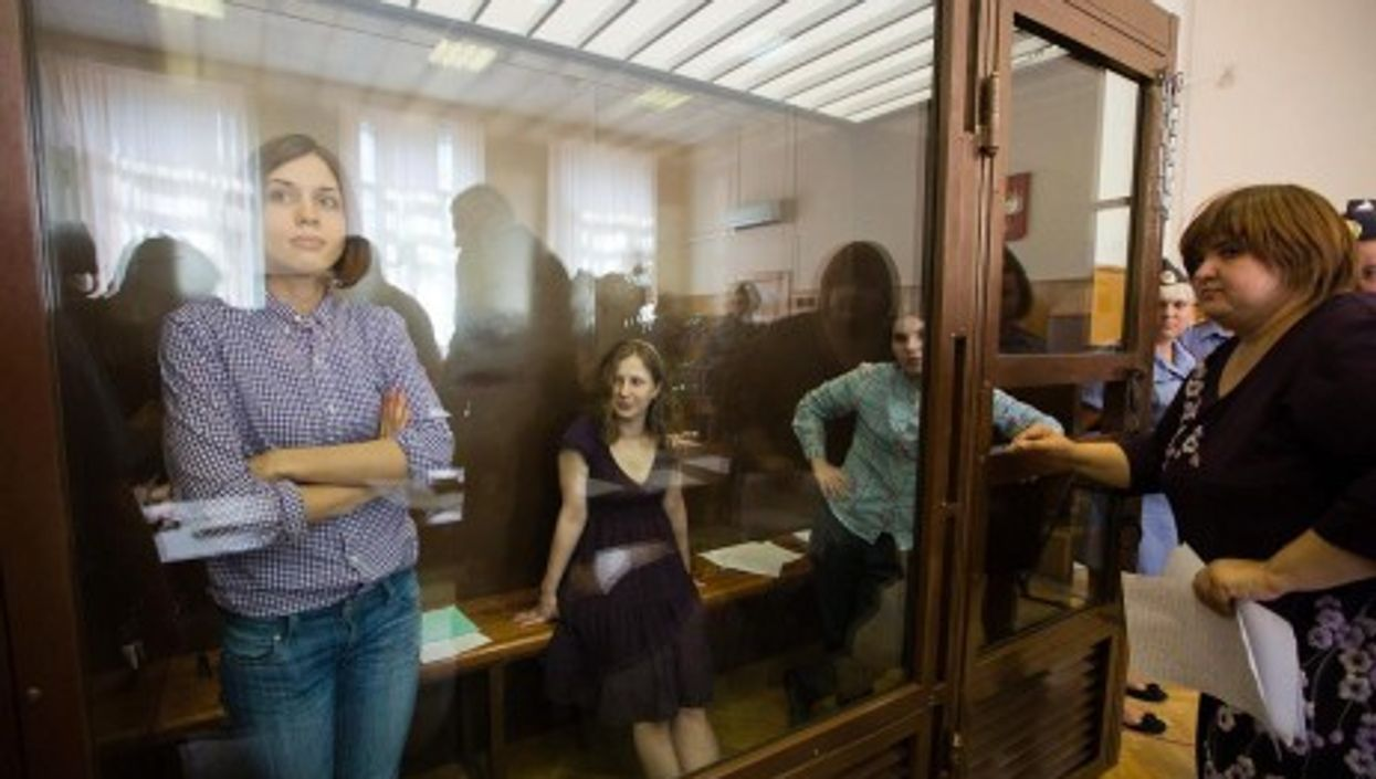 Members of Pussy Riot on trial in Moscow (Pussy Riot)