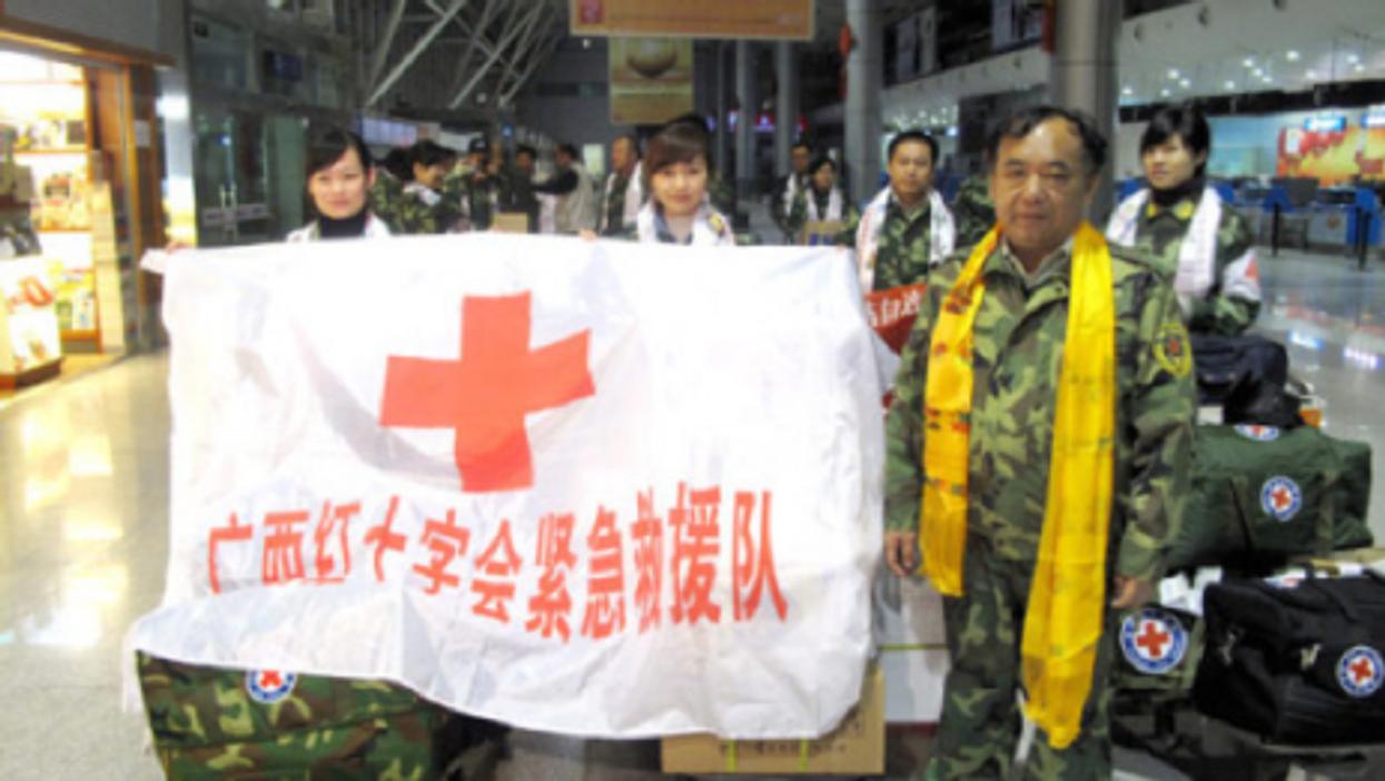 Members of the Guangxi Red Cross