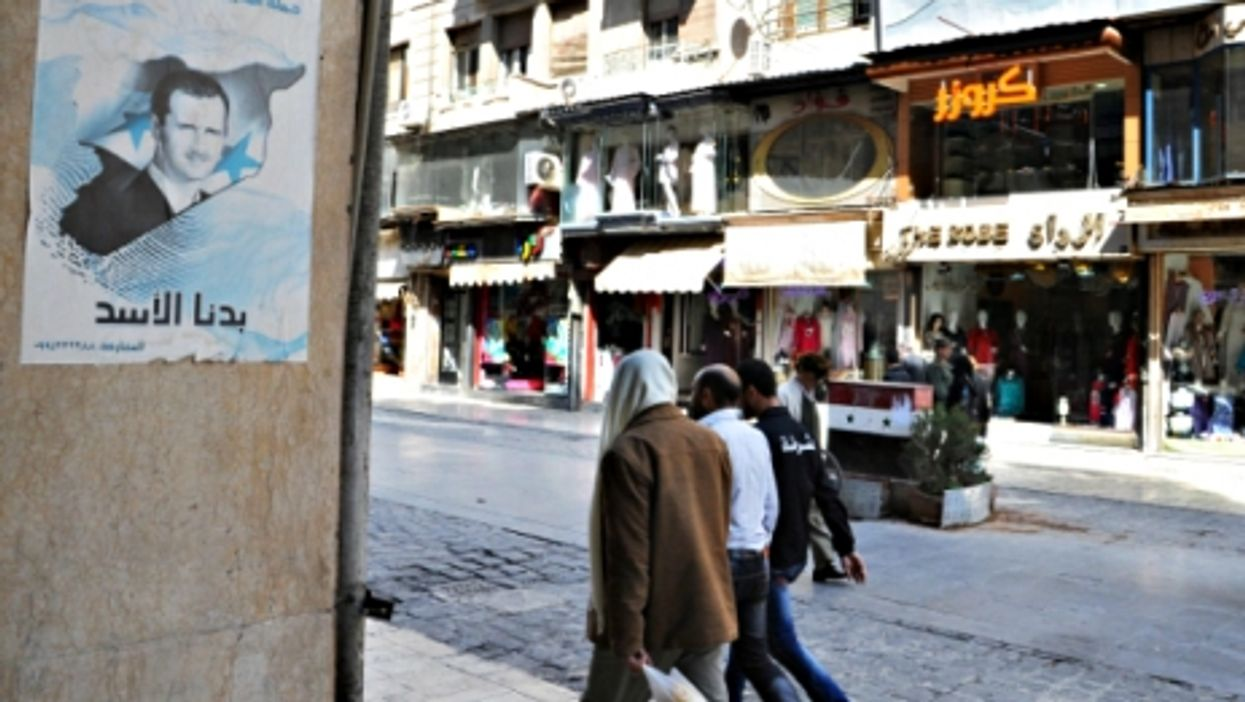 Men walking in Damascus