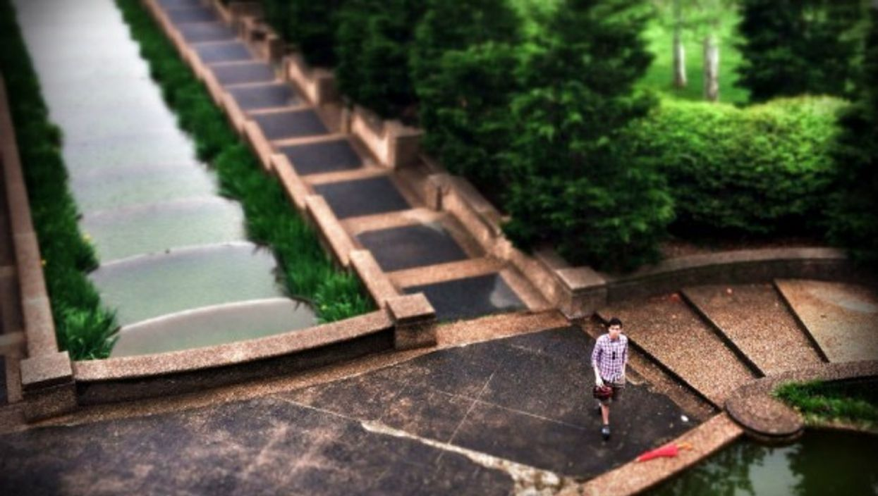 Meridian Hill Park from above