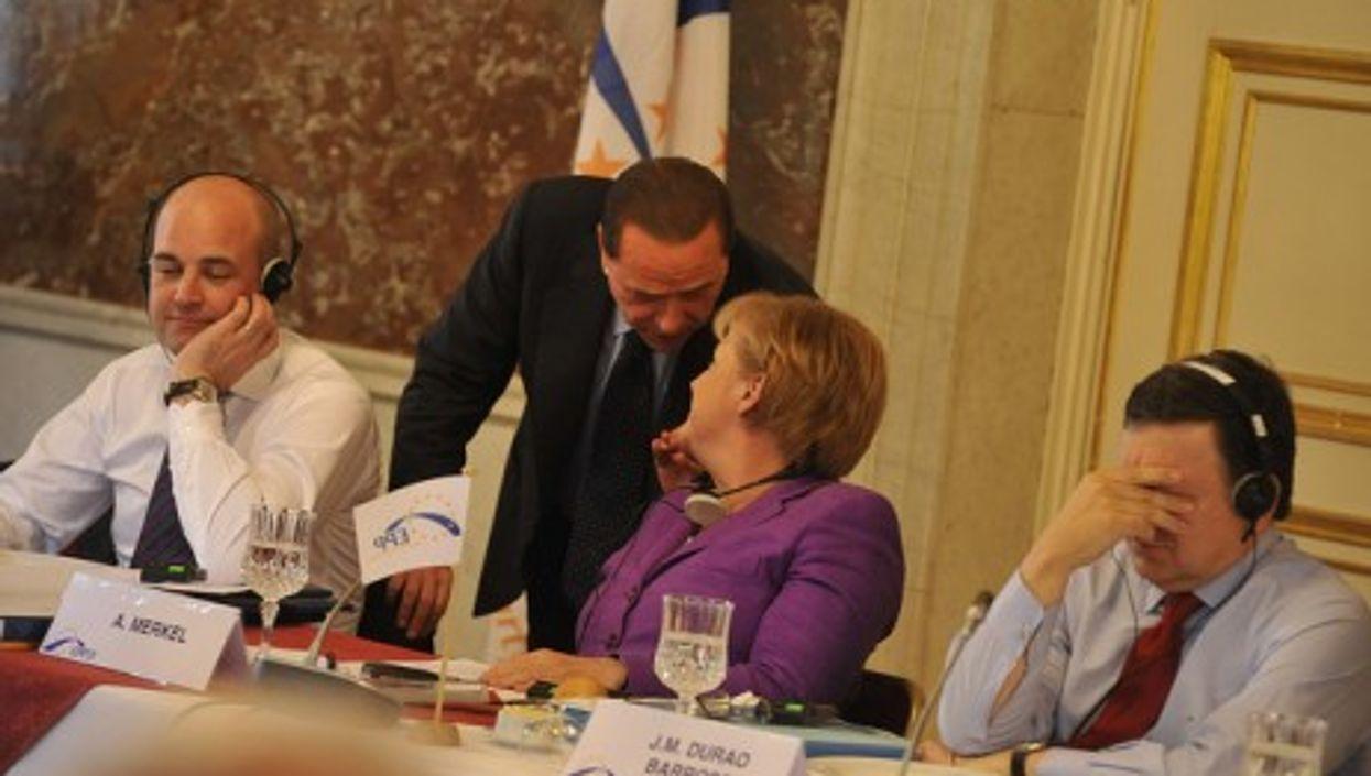 Merkel and Berlusconi 2009
