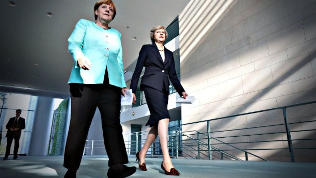 Merkel and May in Berlin in July