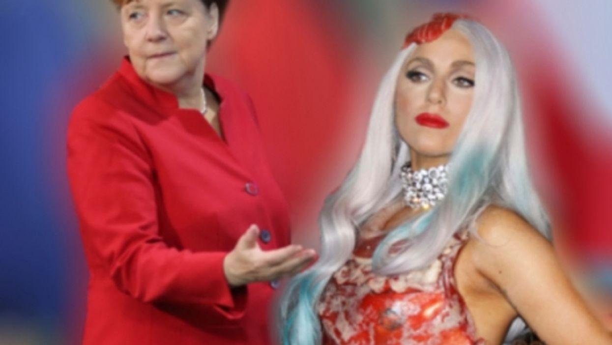 Merkel's blazer and Lady Gaga's meat dress