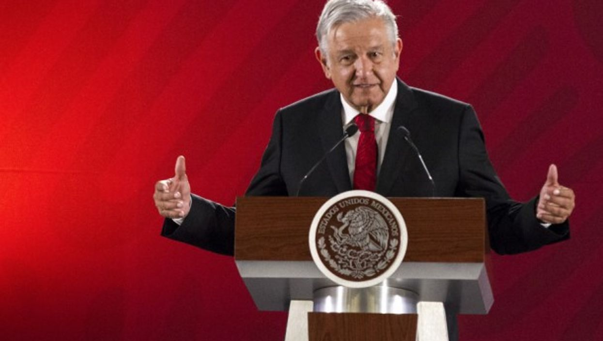 Mexican President AMLO in Mexico City on March 11