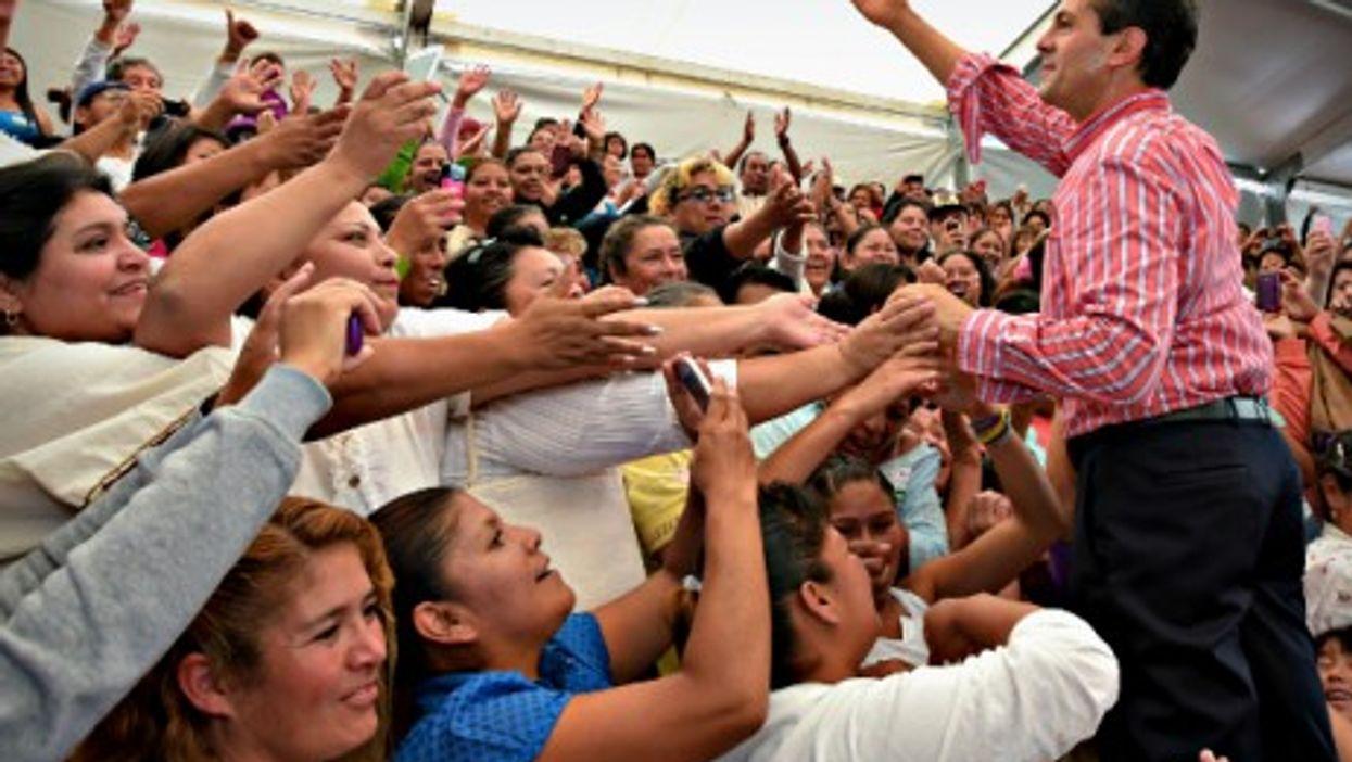 Mexican President Enrique Pena Nieto in Ecatepec de Morelos on Sept. 4