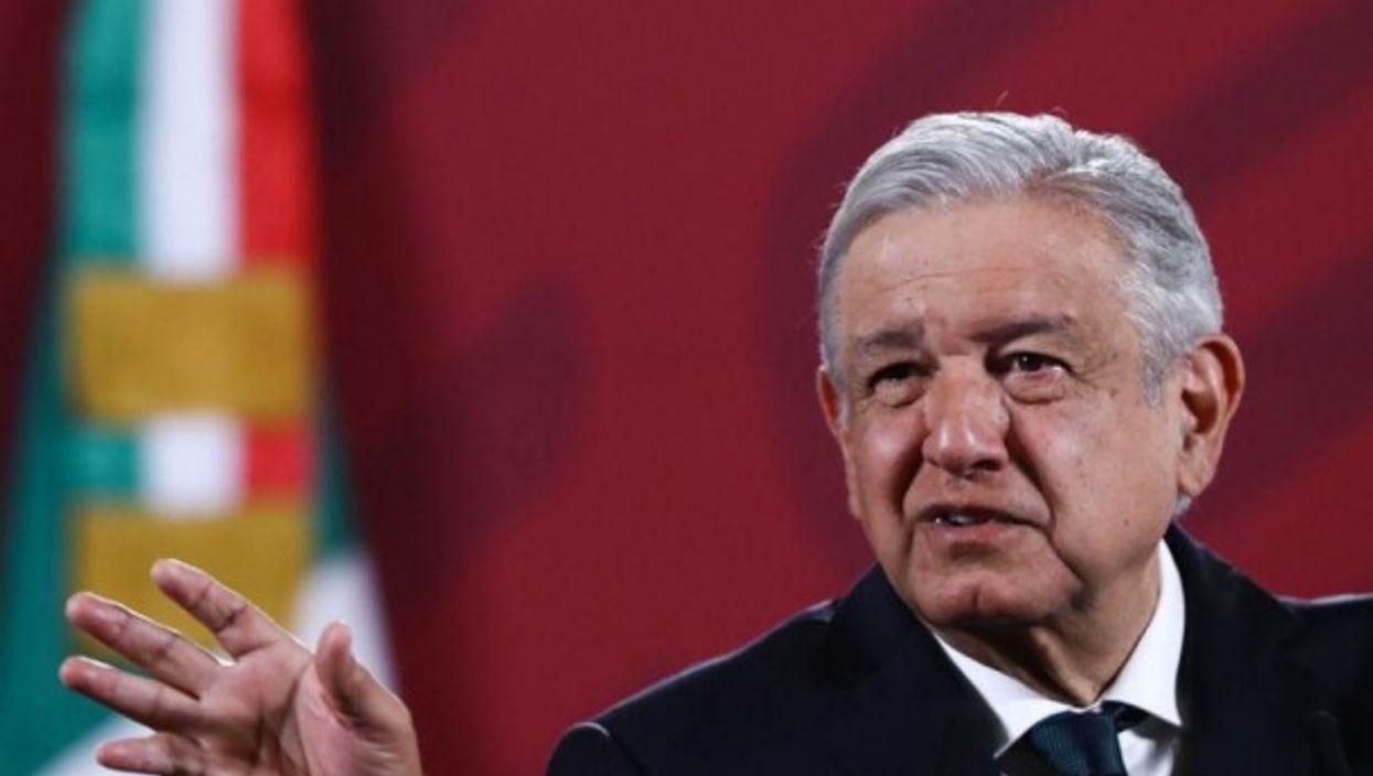 Mexico's PresidentAndrés Manuel López Obrador during a conference in October 2020