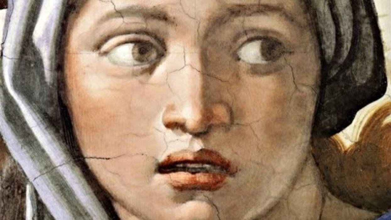 "Michelangelo's ""Sybil"" in the Sistine Chapel (detail)"