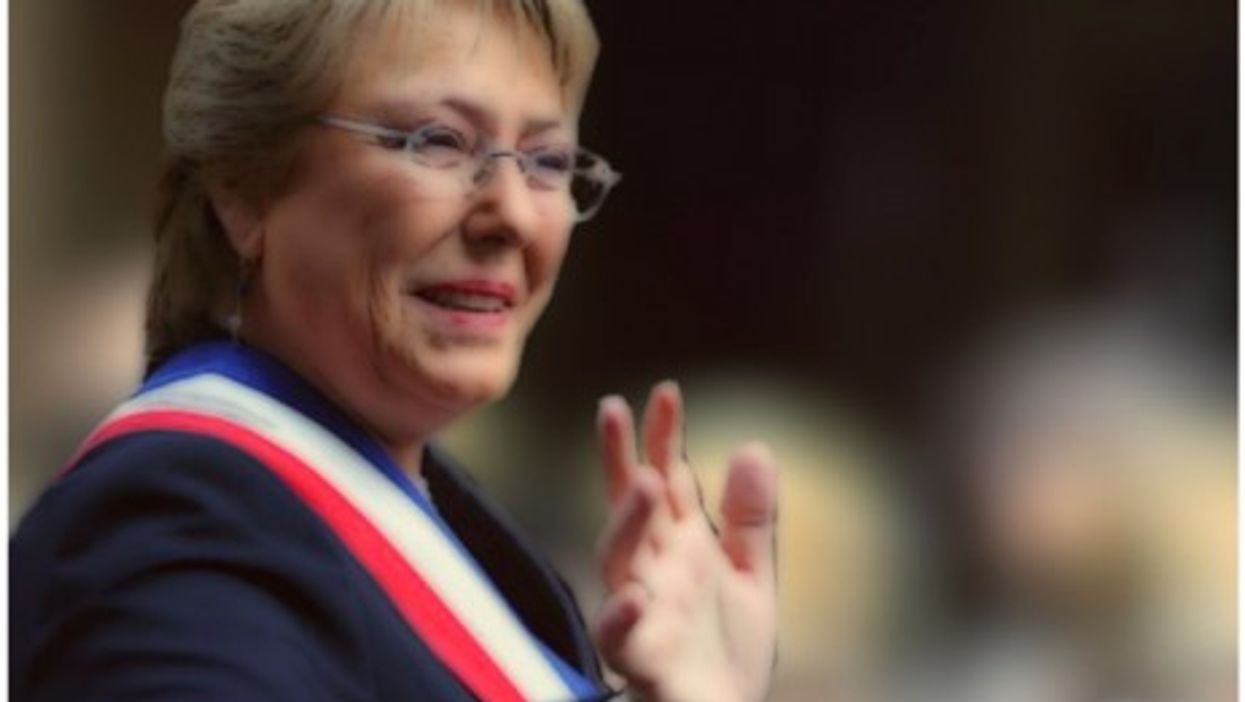 Michelle Bachelet, on her way to a second term