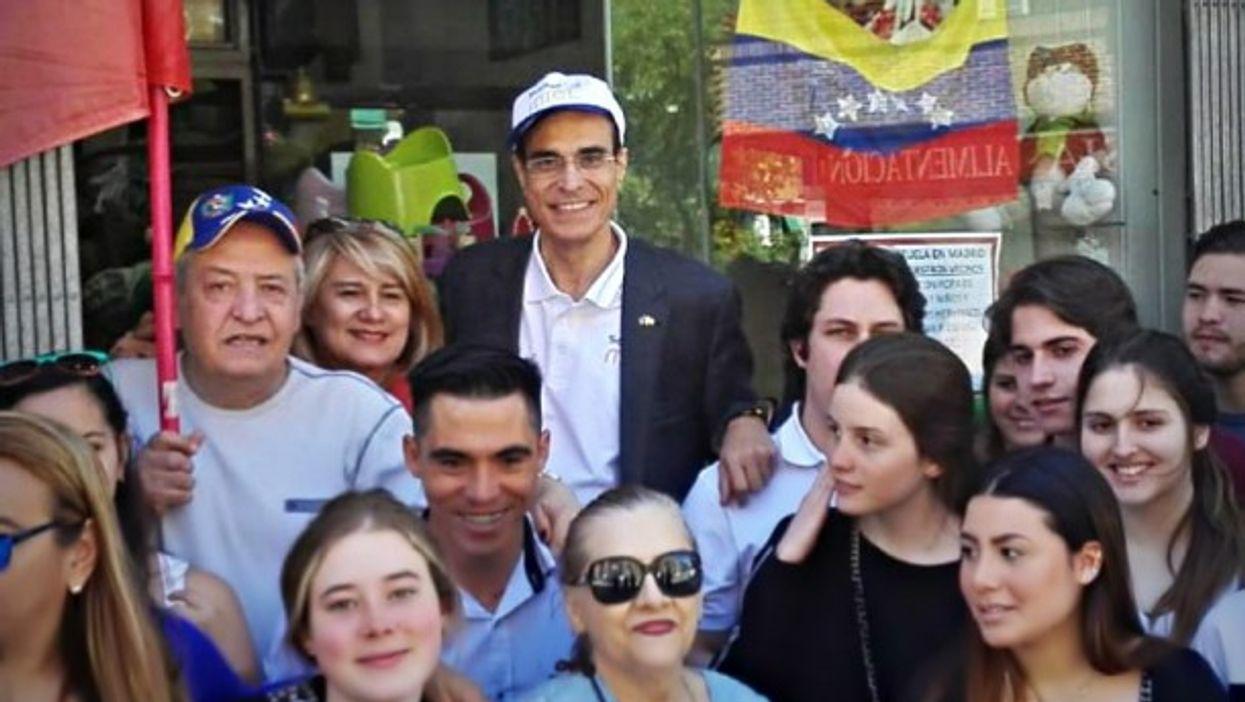 MIEL movement Jose Cordeiro with EU-Venezuelan supporters