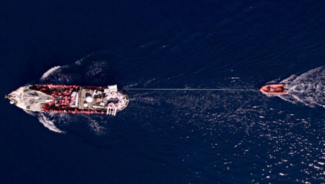 Migrant rescue ship Eleonore on Aug. 27