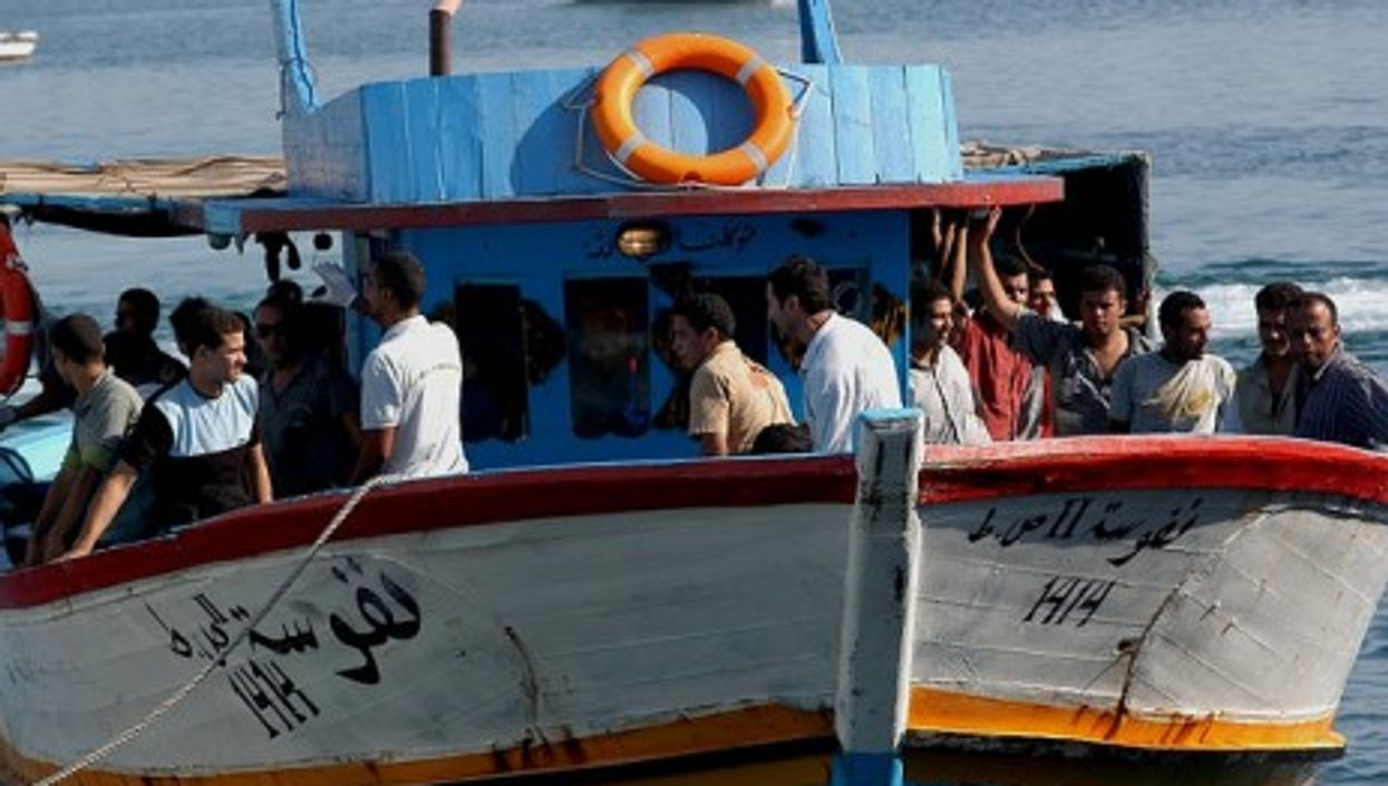 Migrants arriving in Lampedusa (Sara Prestianni)