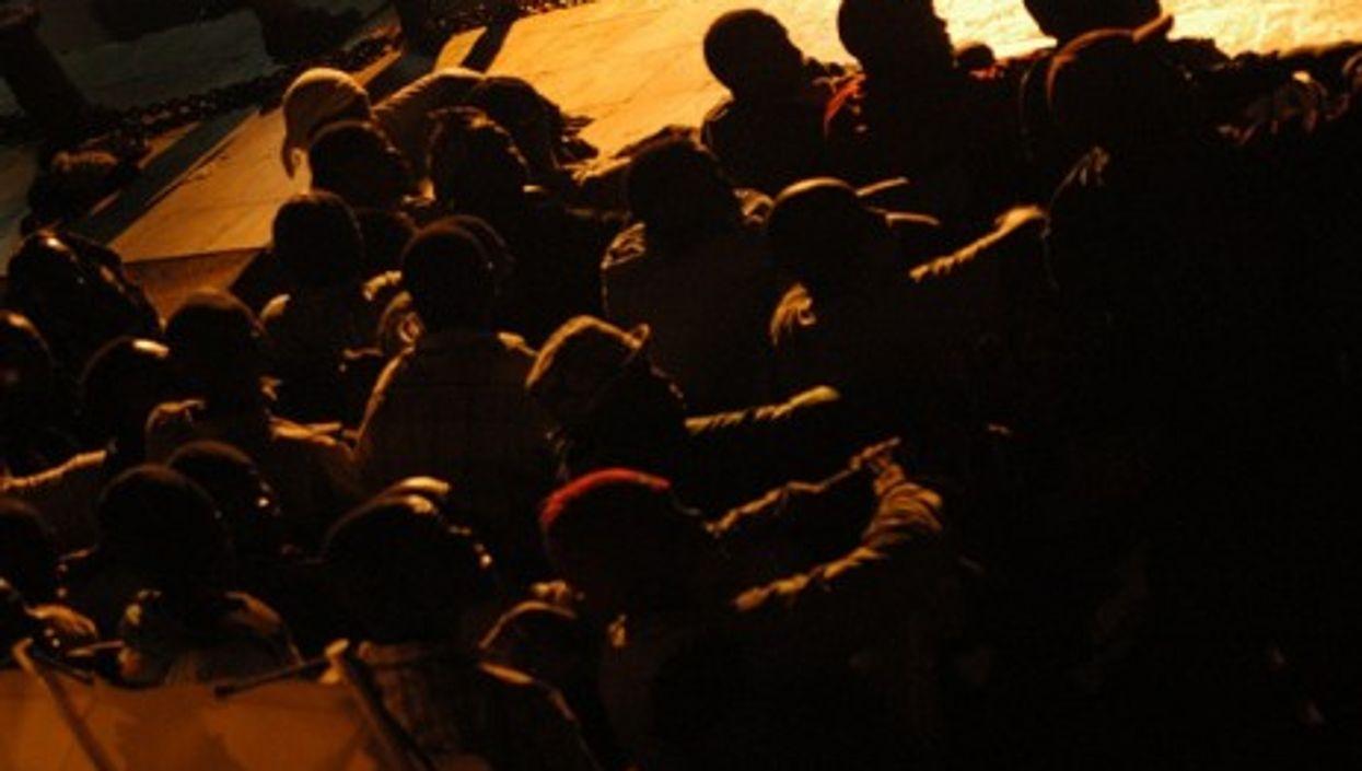 Migrants arriving on island of Lampedusa