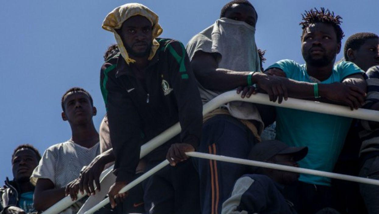 Migrants landing in Italy in June