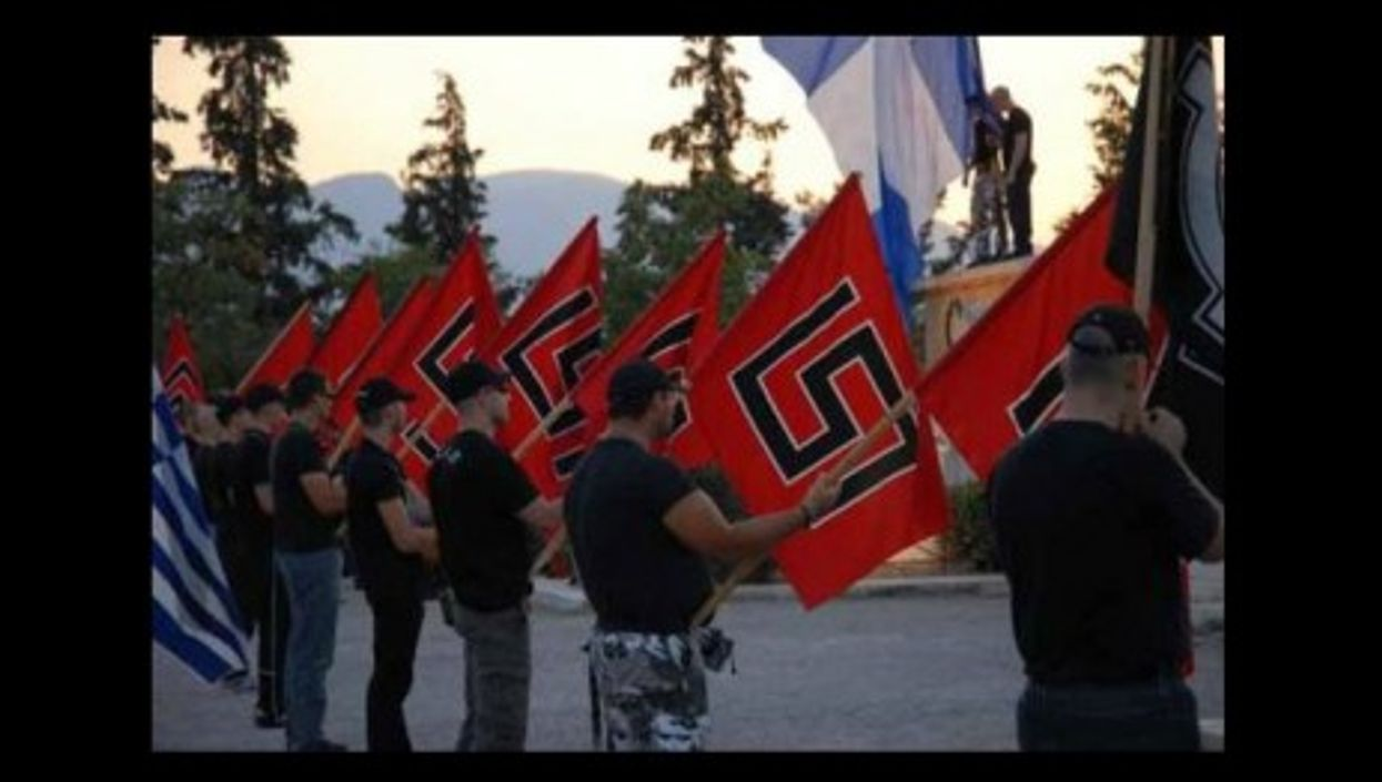 Militants of the Greek Nationalist party Golden Dawn (Johan Norberg)
