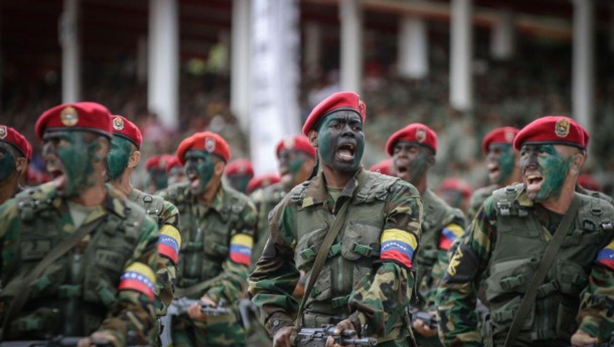 Military parade in Caracas, Venezuela