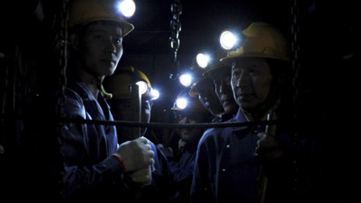Miners in China's Henan Province