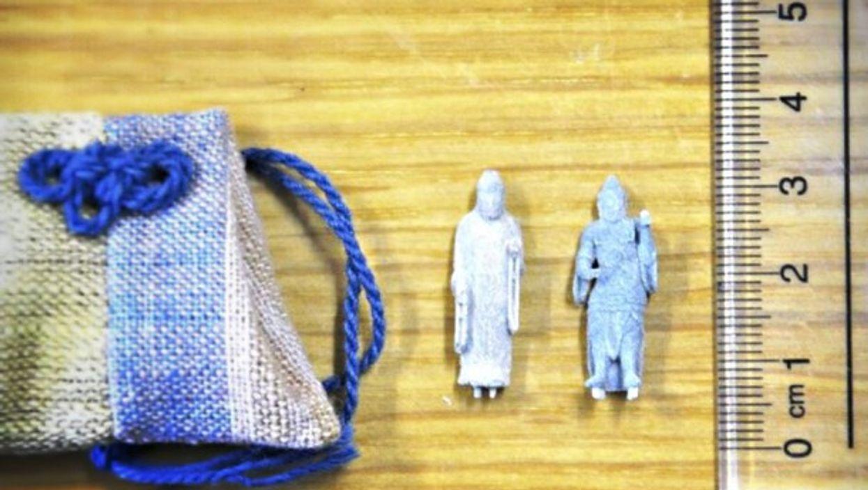 Miniature statues sold at Komatsuji temple