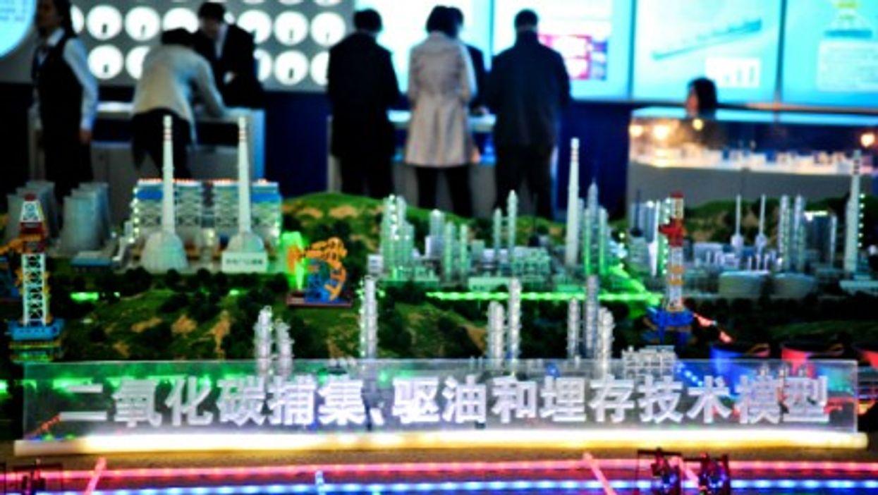 Model of a high-tech smart city in Changsha, Hunan Province.
