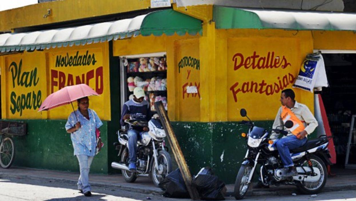 Modern street scene, Aracataca, Colombia